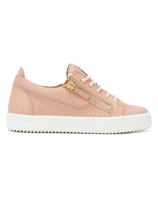 Giuseppe Zanotti - Pink 'nicki' Low-top Sneakers - Lyst