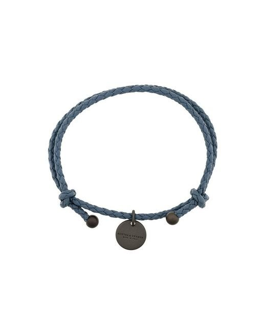 Bottega Veneta   Blue Intrecciato Leather Bracelet   Lyst