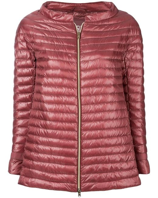 Herno - Red Quilted Down Jacket - Lyst