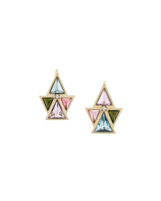 Noor Fares - Metallic Pira Earrings - Lyst