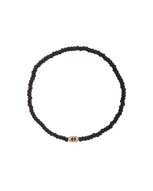 Luis Morais - Black Mini Cross Of Lorraine Barrel Bracelet - Lyst