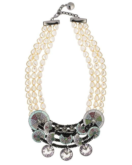 Camila Klein - Metallic Conceito Embellished Necklace - Lyst