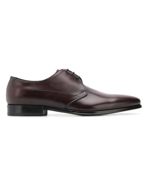 Dolce & Gabbana - Brown Derby-Schuhe mit spitzer Kappe for Men - Lyst