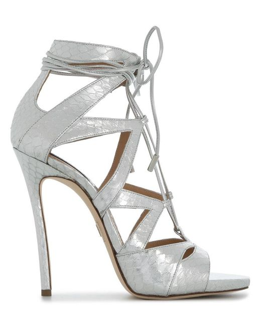 DSquared² - Gray Tie Me Up Sandals - Lyst