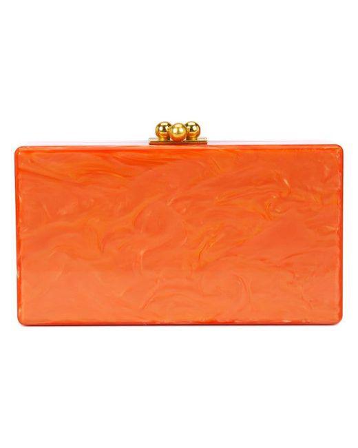 Edie Parker - Orange Marbled Effect Clutch - Lyst