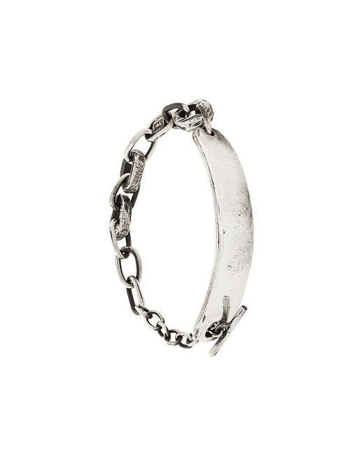 Henson - Metallic Carved Id Bracelet for Men - Lyst