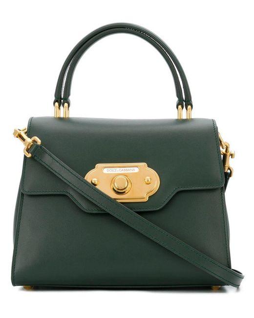28a23b5402 Dolce   Gabbana - Green Welcome Handbag - Lyst ...