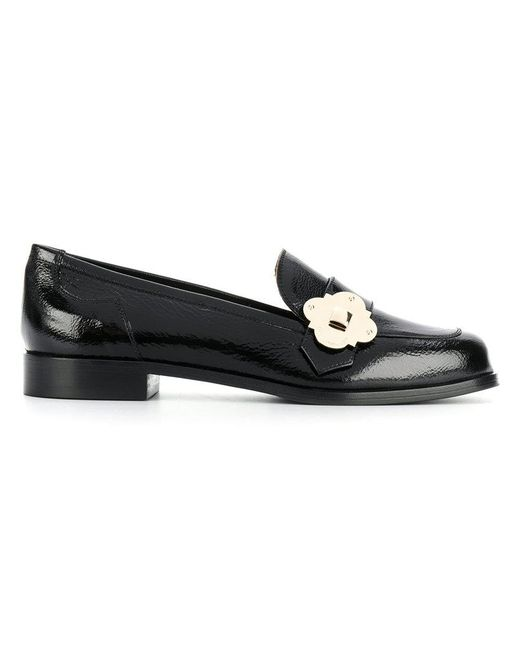 Emporio Armani | Black Buckled Loafers | Lyst