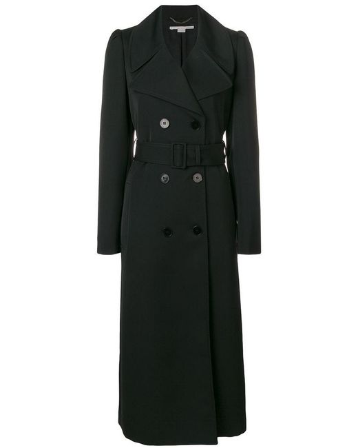 6d9f2e0bab0 Stella McCartney - Black Double Breasted Peacoat - Lyst ...