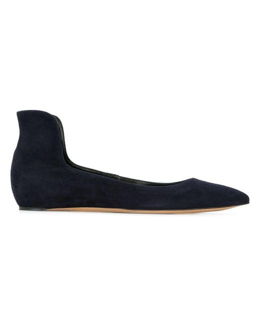 Casadei - Blue Pointed Ballerina Shoes - Lyst