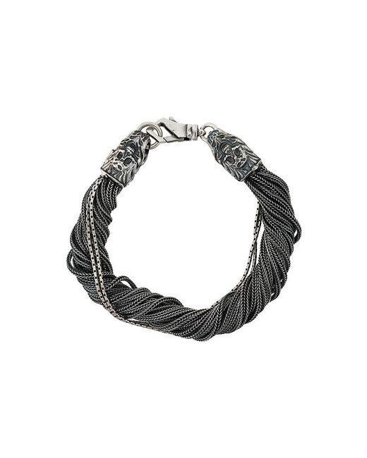Emanuele Bicocchi - Gray Torsion Bracelet for Men - Lyst