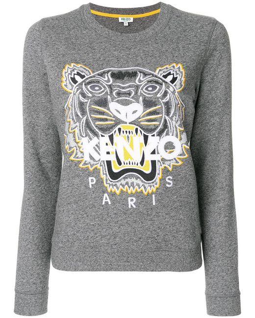 KENZO   Gray Tiger Head Jumper   Lyst