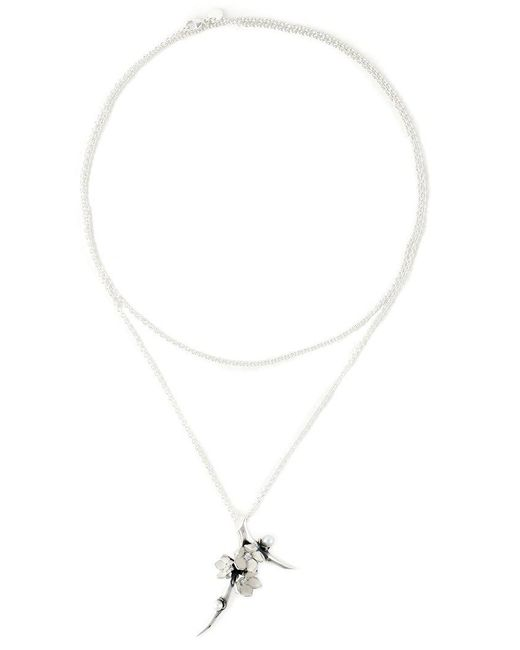 Shaun Leane - Metallic 'cherry Blossom' Diamond Long Pendant Necklace - Lyst