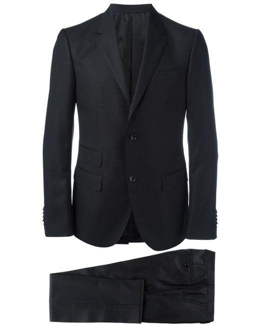 Gucci Black Micro Dots Patterned Suit for men