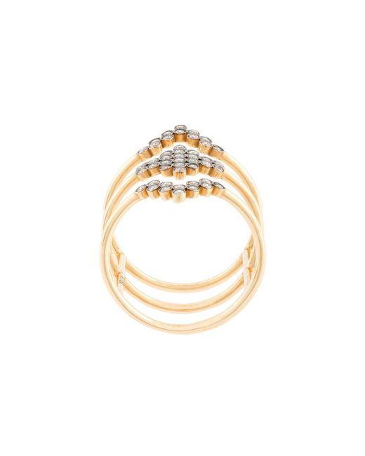 Yannis Sergakis - Metallic Triple Stacked Diamond Charnières Ring - Lyst