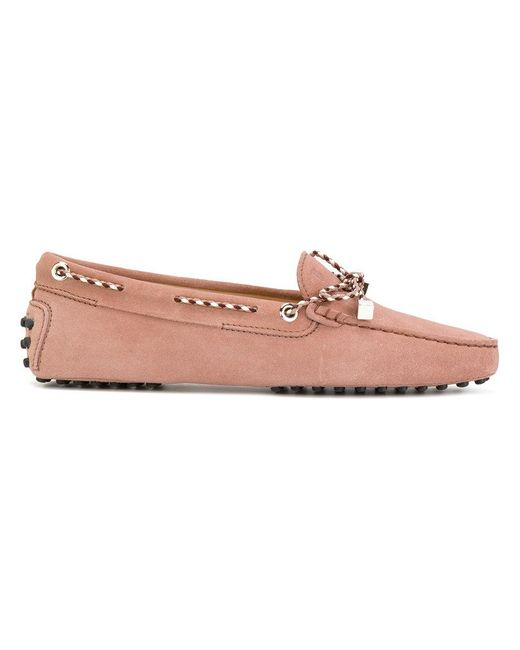 Tod's | Pink Heaven Lacetto Loafers | Lyst