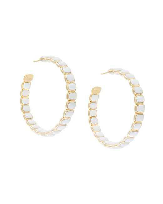 Ivi | White Maghlia Toy Hoop Earrings | Lyst