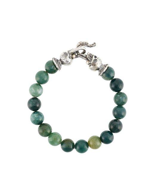 Emanuele Bicocchi - Green Skull Beaded Bracelet - Lyst