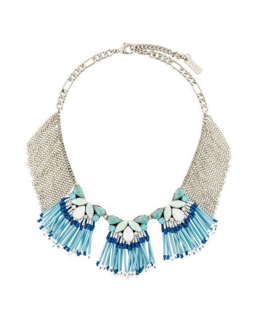 Rada' | Blue Fringed Short Necklace | Lyst