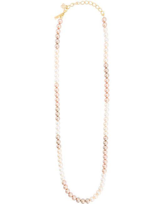 Oscar de la Renta - Multicolor Pearl Necklace - Lyst