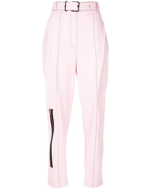 Proenza Schouler - Pink Tailored Zipped Trousers - Lyst