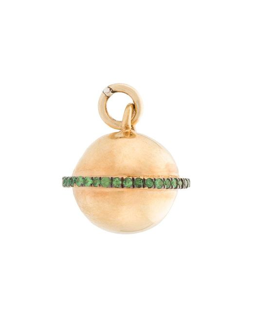 Ileana Makri - Metallic Embellished Necklace Pendant - Lyst