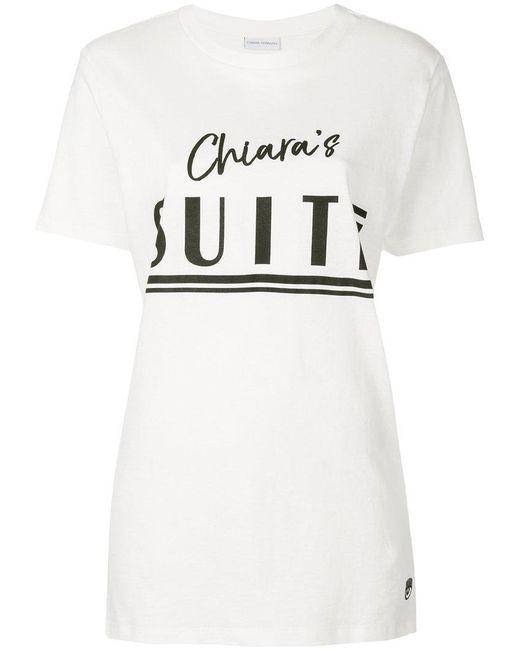 Chiara Ferragni - White Chiara's Suite T-shirt - Lyst