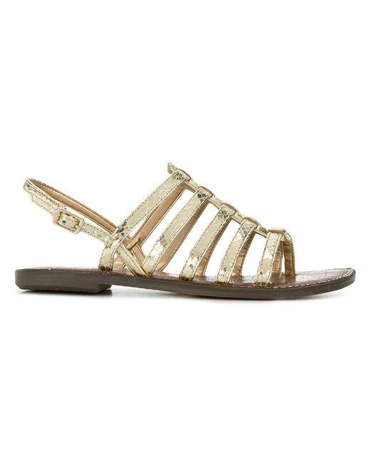 Sam Edelman - Metallic Strappy Singback Sandals - Lyst