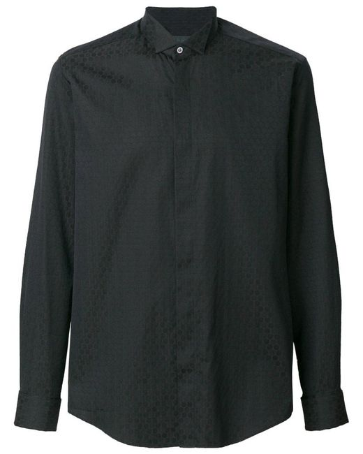 Pal Zileri - Black Jacquard Pattern Shirt for Men - Lyst