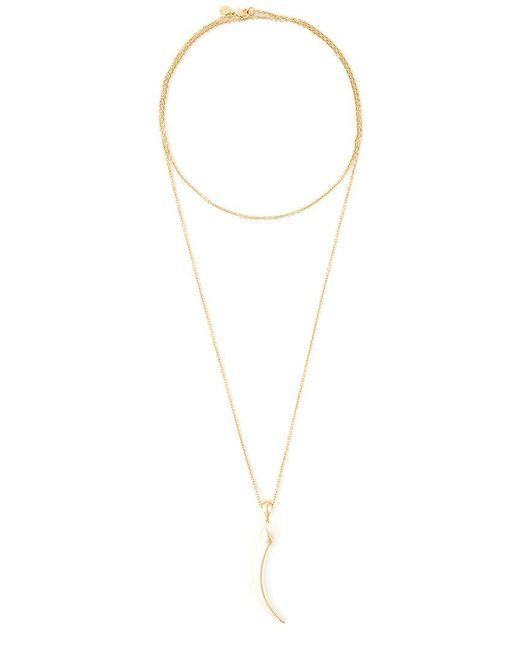 Shaun Leane - Metallic 'knife Edge' Long Necklace - Lyst