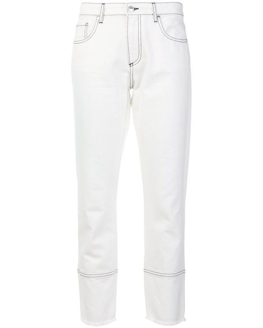 slim-leg cropped jeans - White Msgm Cheap Discount Authentic New Outlet Sale Online H52MNF