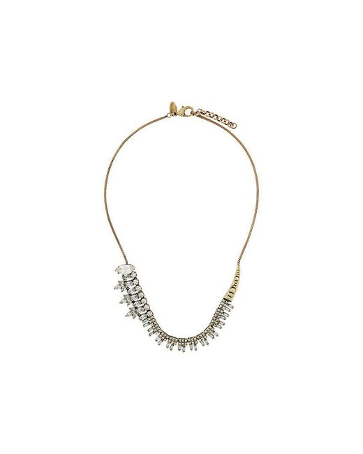 Iosselliani - Metallic White Eclipse Necklace - Lyst