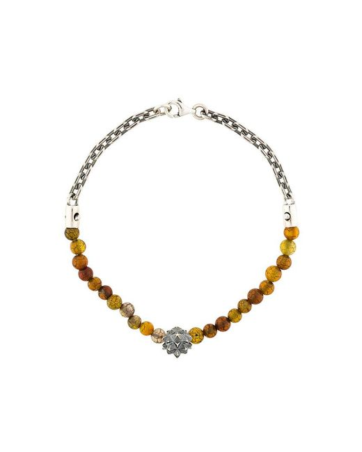 Northskull - Metallic Beaded Bracelet for Men - Lyst