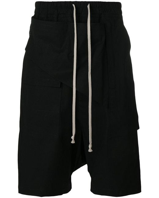 Rick Owens Drkshdw | Black Drop-crotch Shorts for Men | Lyst