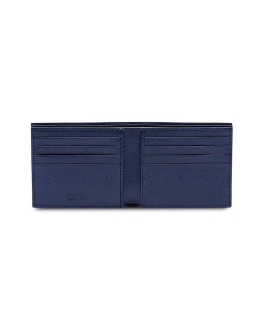 024febc752d703 ... Prada - Blue Saffiano Bifold Wallet for Men - Lyst