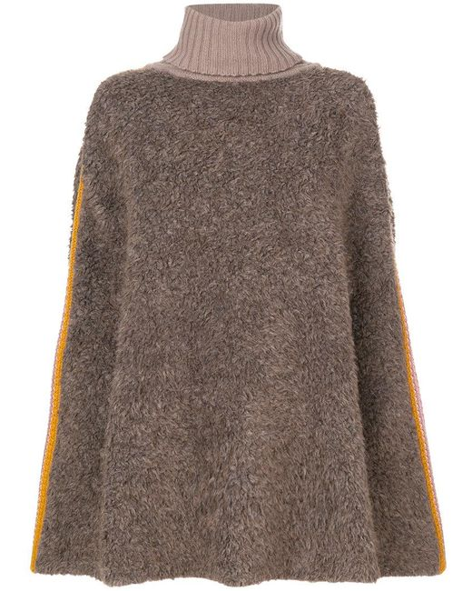 M Missoni | Brown Slouched Pullover Sweater | Lyst