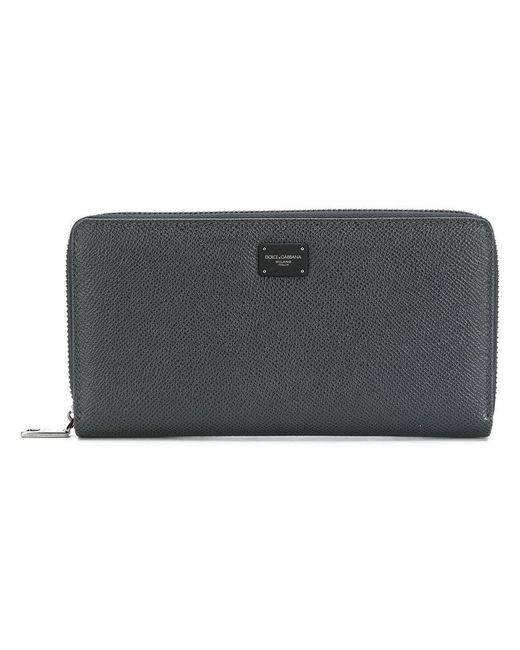 Dolce & Gabbana - Blue Logo Zip Wallet - Lyst