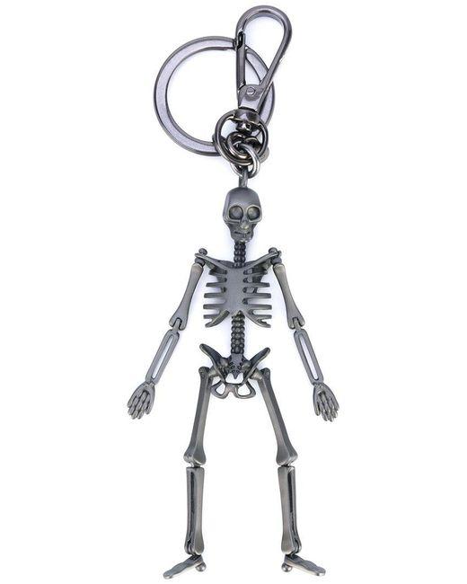 Alexander McQueen - Gray Skeleton Keyring - Lyst