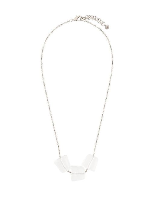 MM6 by Maison Martin Margiela - Metallic Triple Block Necklace - Lyst