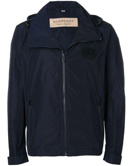 Burberry - Blue Lightweight Bomber Jacket for Men - Lyst