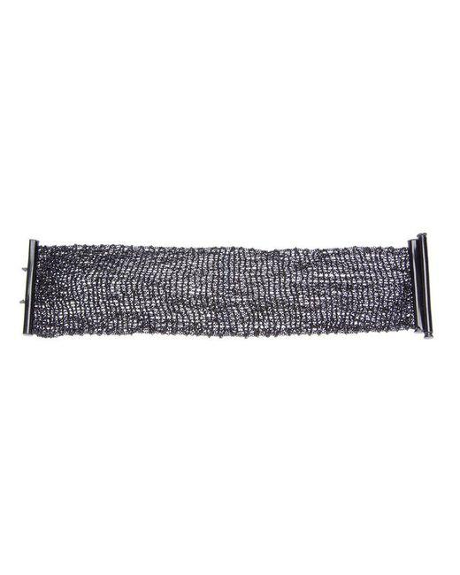 Christian Koban - Metallic Woven Cuff - Lyst