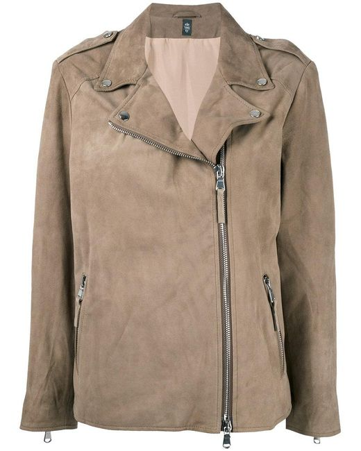 Eleventy - Brown Classic Biker Jacket - Lyst