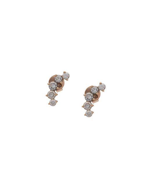 Anita Ko - Metallic Five Diamond Earrings - Lyst