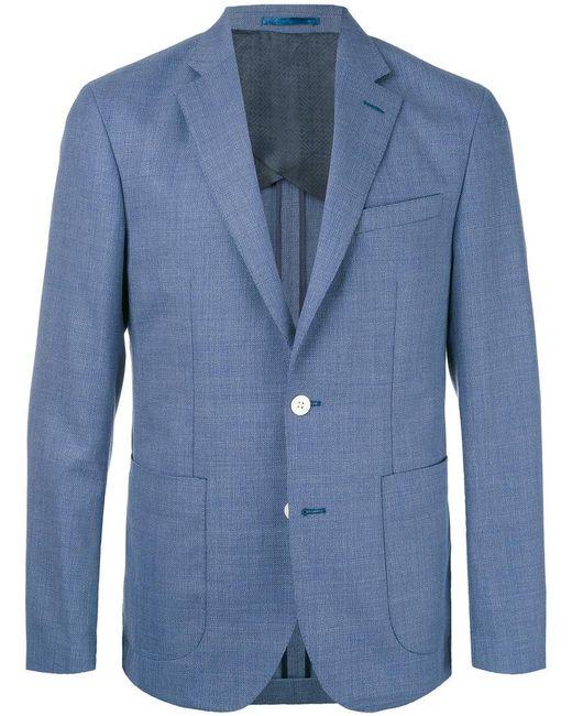 Hardy Amies | Blue Blazer In Tessuto A Trama for Men | Lyst
