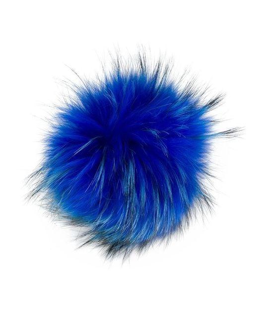 N.Peal Cashmere - Blue Detachable Pom Pom - Lyst