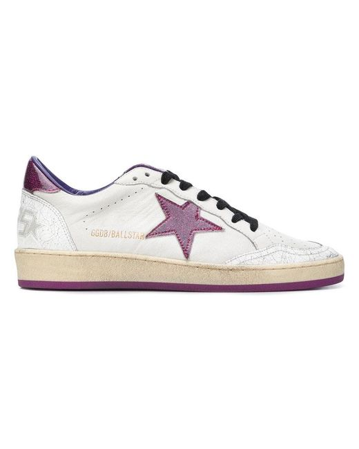 Golden Goose Deluxe Brand - White Ball Star Distressed Sneakers - Lyst