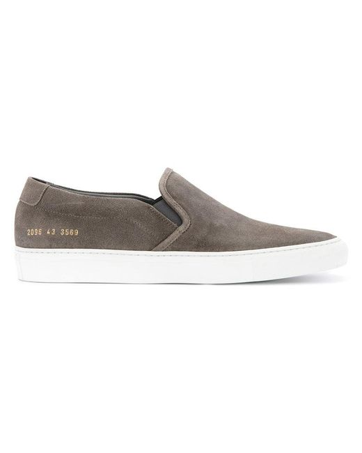 Common Projects | Gray Contrast Sole Slip-on Sneakers for Men | Lyst