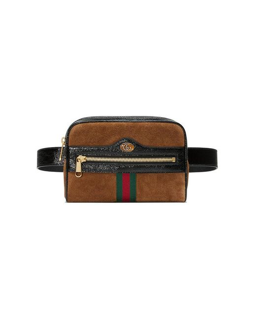 04dc9b8a9 Gucci Brown Ophidia Small Suede Belt Bag in Brown - Lyst