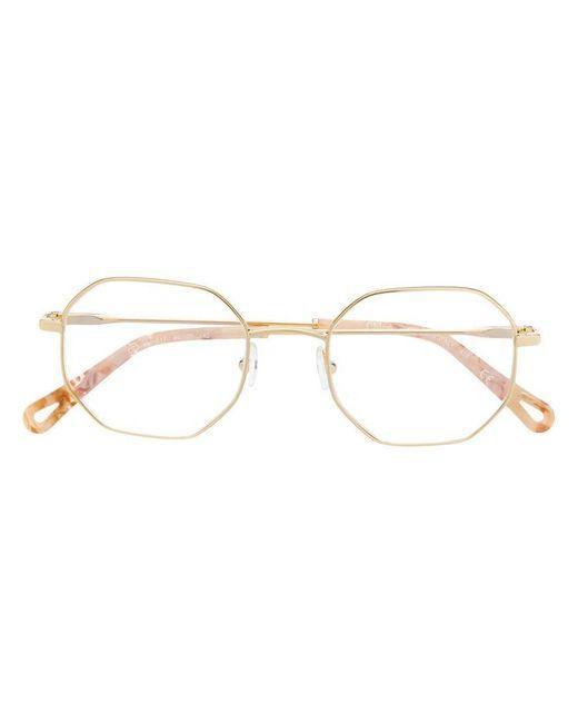 6fa08814d6 Chloé - Multicolor Angled Thin Frame Glasses - Lyst ...