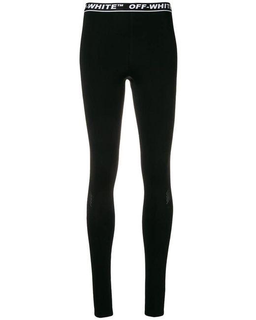 Off-White c/o Virgil Abloh - Black Logo Waistband leggings - Lyst